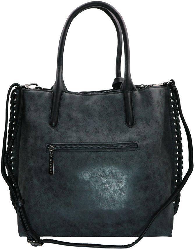 188 Black Metal Side Detail Bag - BagZone ~ Fashion Handbags ...