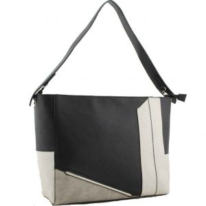 badbe84e23fe H1650 – Sally fashion designer colour block handbag black