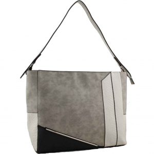 08c9344b78b7 H1650 – Sally fashion designer colour block handbag grey