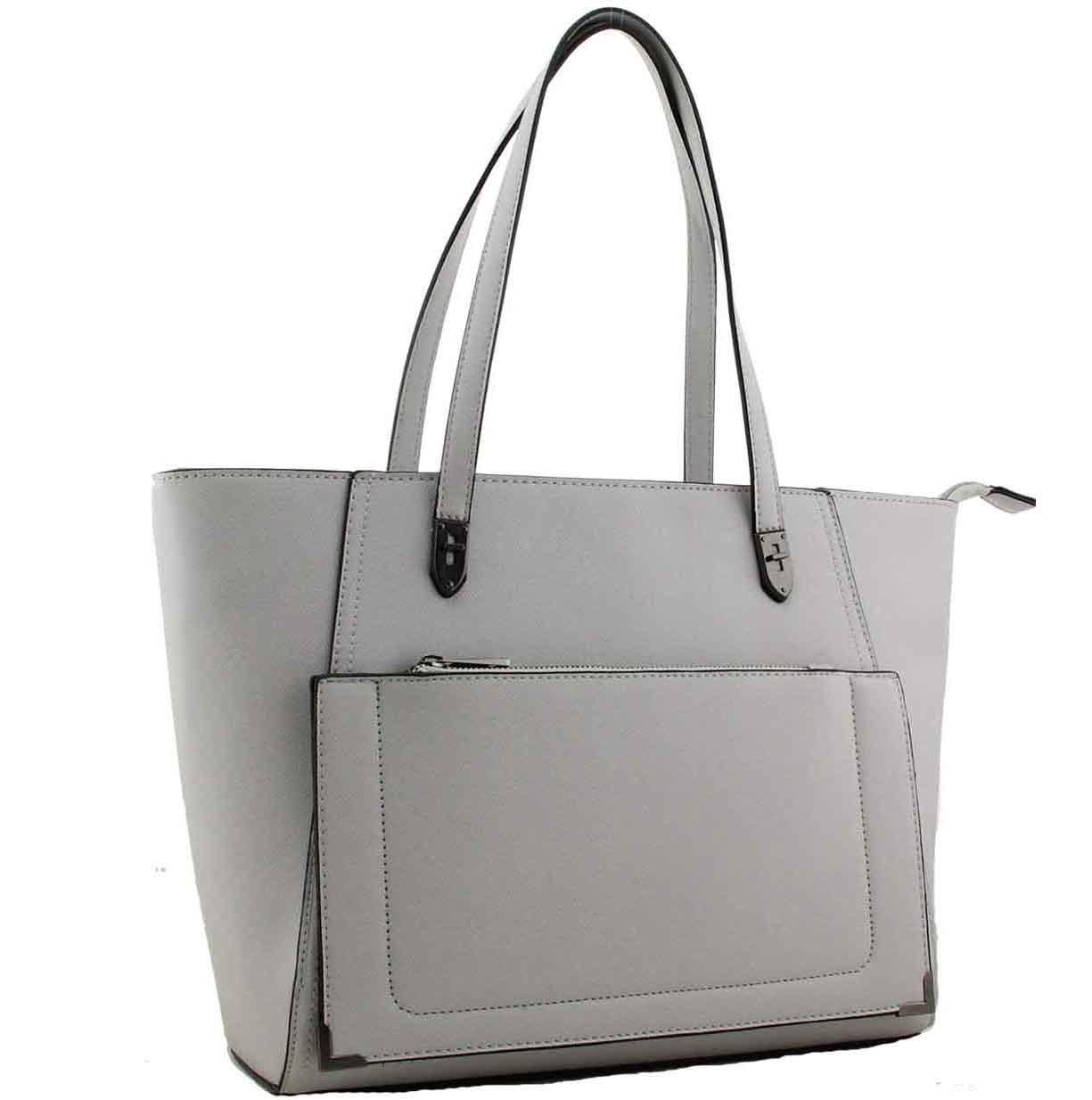 c7bd07a43f71 H1653 - Trista fashion tote designer handbag grey ~ BAGZONE ...