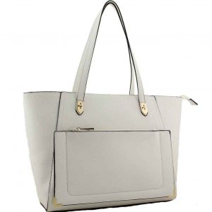 H1653 white tote bag