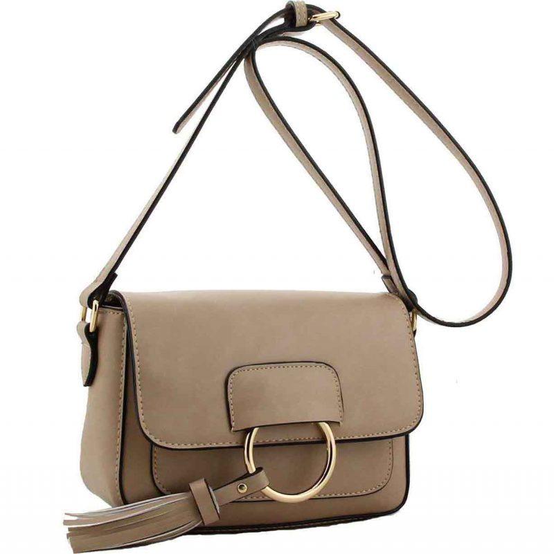 H1654 mink ring flap handbag