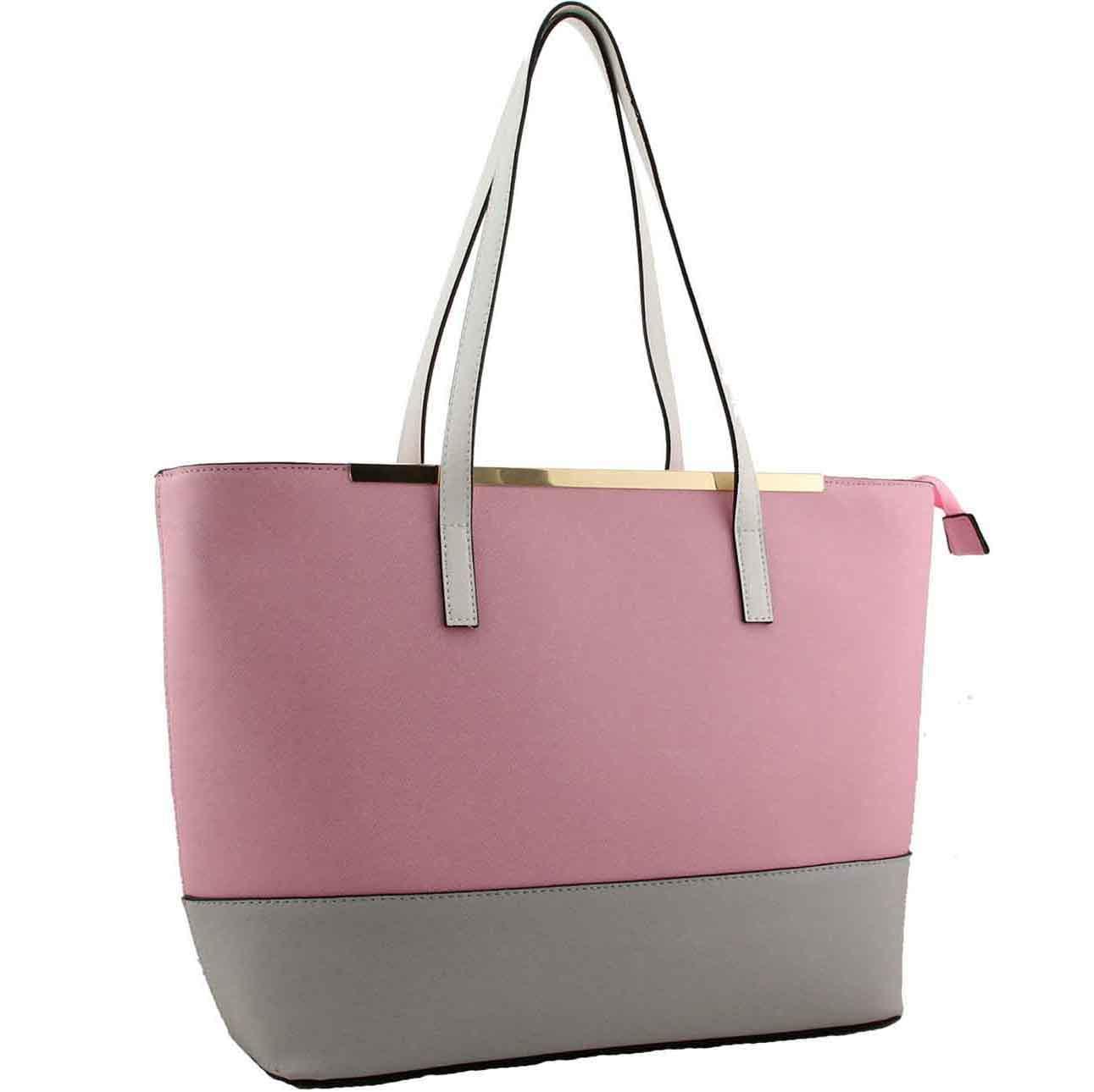 bfc9ca225d516 H1656 - Zenobia fashion designer tote pink