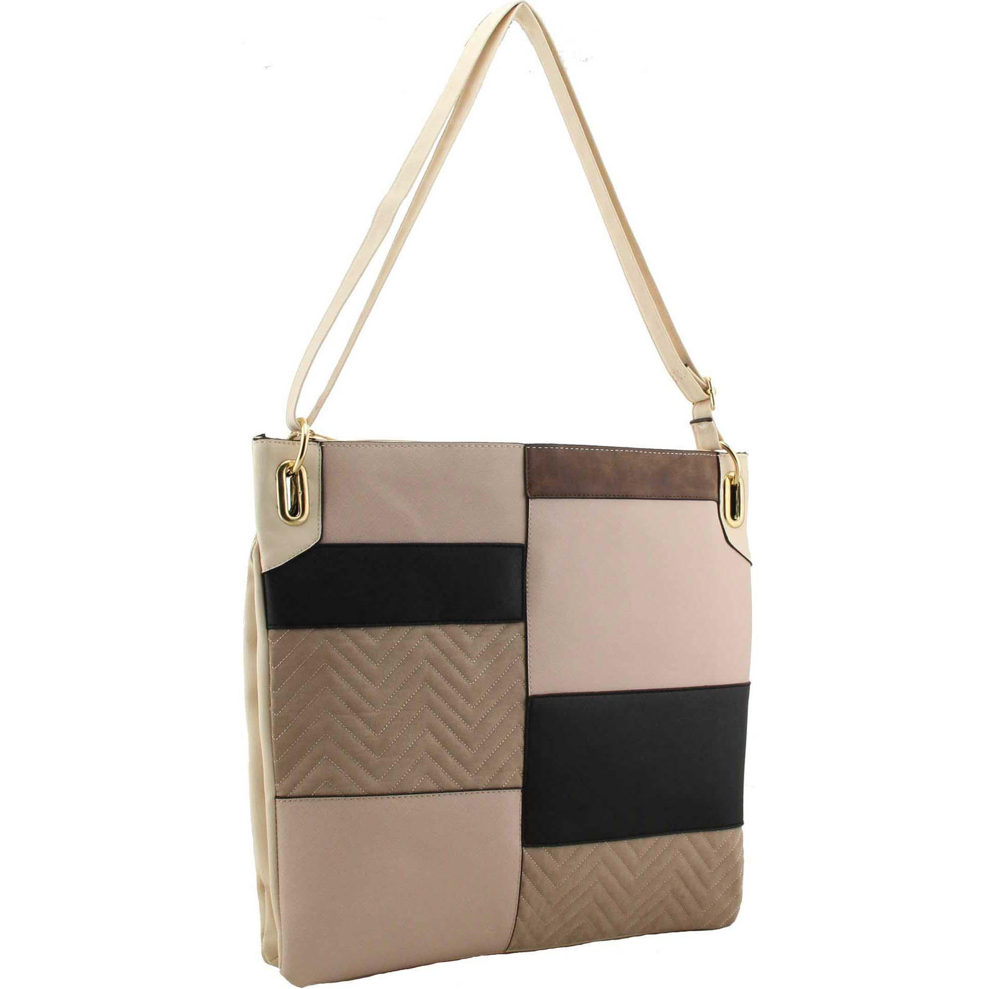 605912b75b70 H1713 - Eden colour block detail cross body bag ~ BAGZONE ...