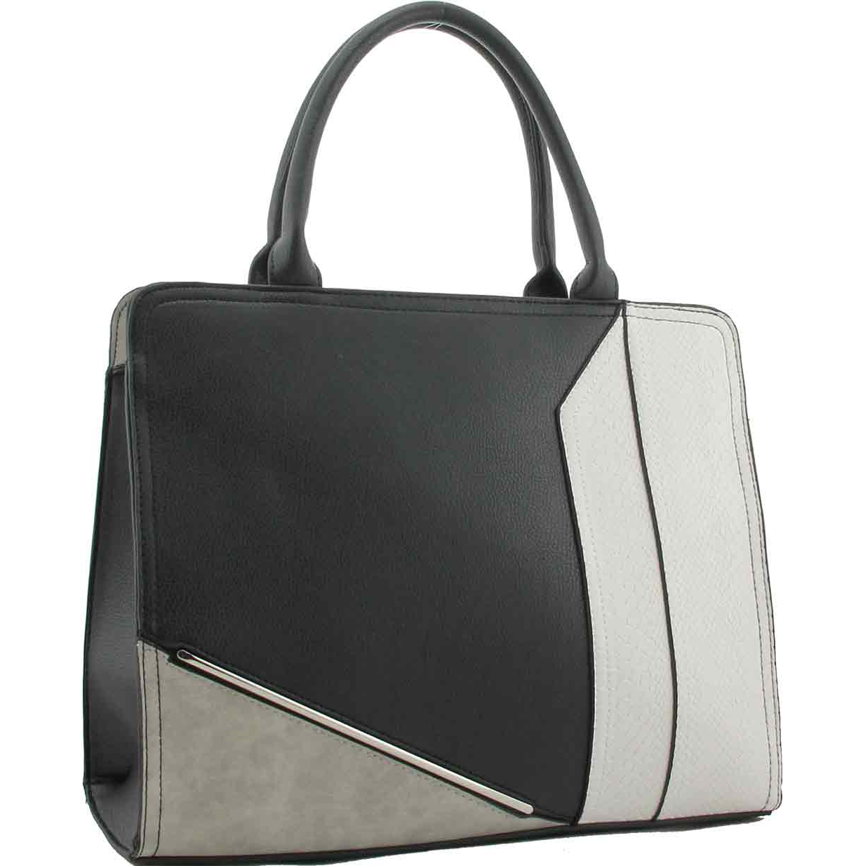 7bc6f2fe8c08 H1732 - Jodie Grey Colour Block Tote Bag ~ BAGZONE - Suppliers of ...
