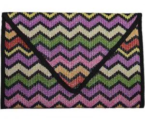 zig zag weave clutch bag