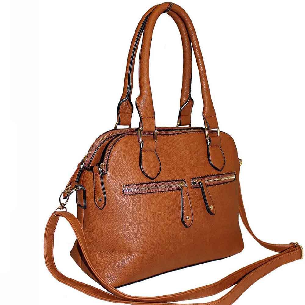 51fab5773751 139 Tan - 3 Section Fashion Bag ~ BAGZONE - Suppliers of Fashion ...