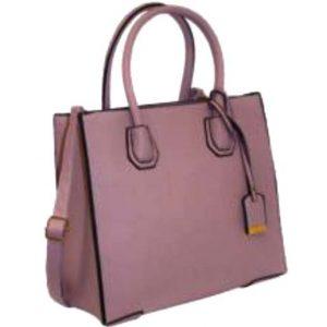 pink structured bag