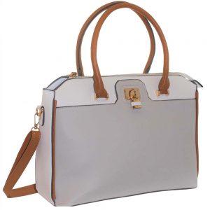 grey padlock bag