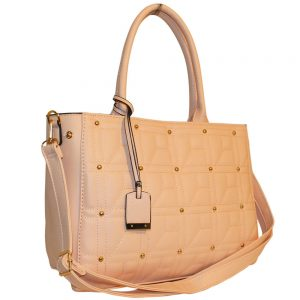 nude quilted bag