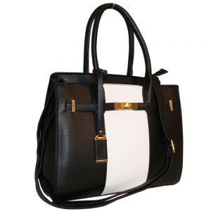 Black lock Handbag
