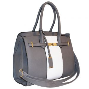 Grey lock Handbag
