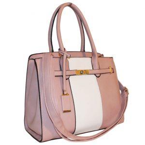 Pink lock Handbag