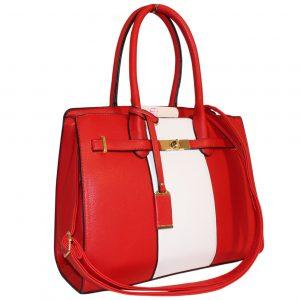 Red lock Handbag