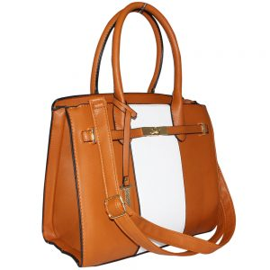 Tan lock Handbag