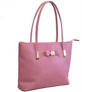 pink bow tote bag