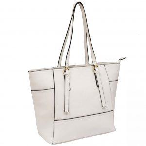 white tote handbag