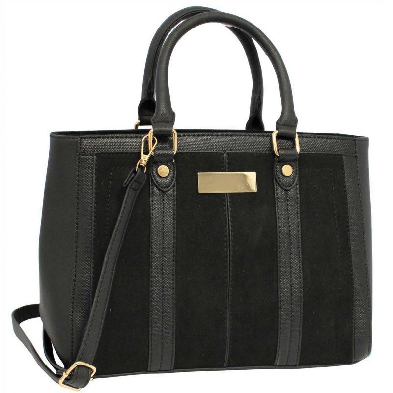 Black structured bag