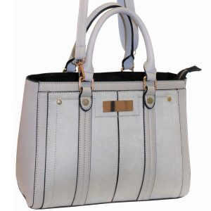 Grey Structured Handbag