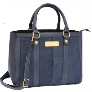 navy structured Bag