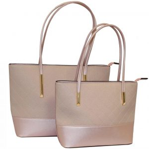 blush tote bag set of 2