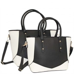 Black Tote bag set of 2