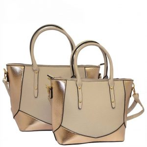 gold tote bag set of 2