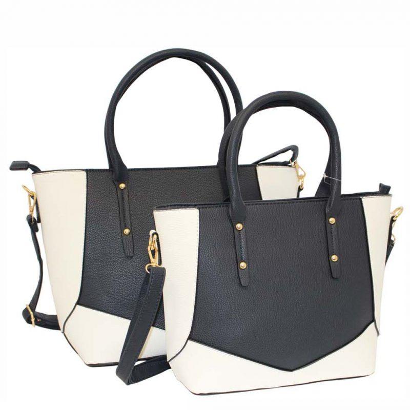 Navy tote bag set of 2