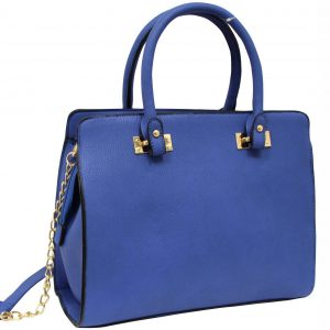 blue structured bag