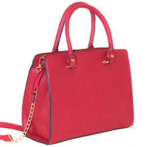 red structured bag