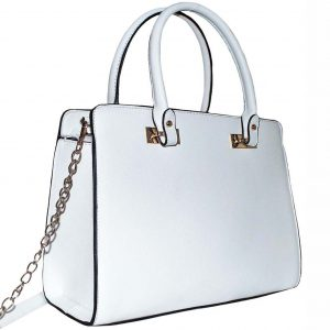 white structured bag