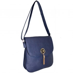 Navy flap over bag