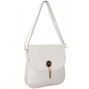 White flap over bag