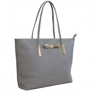grey tote bag