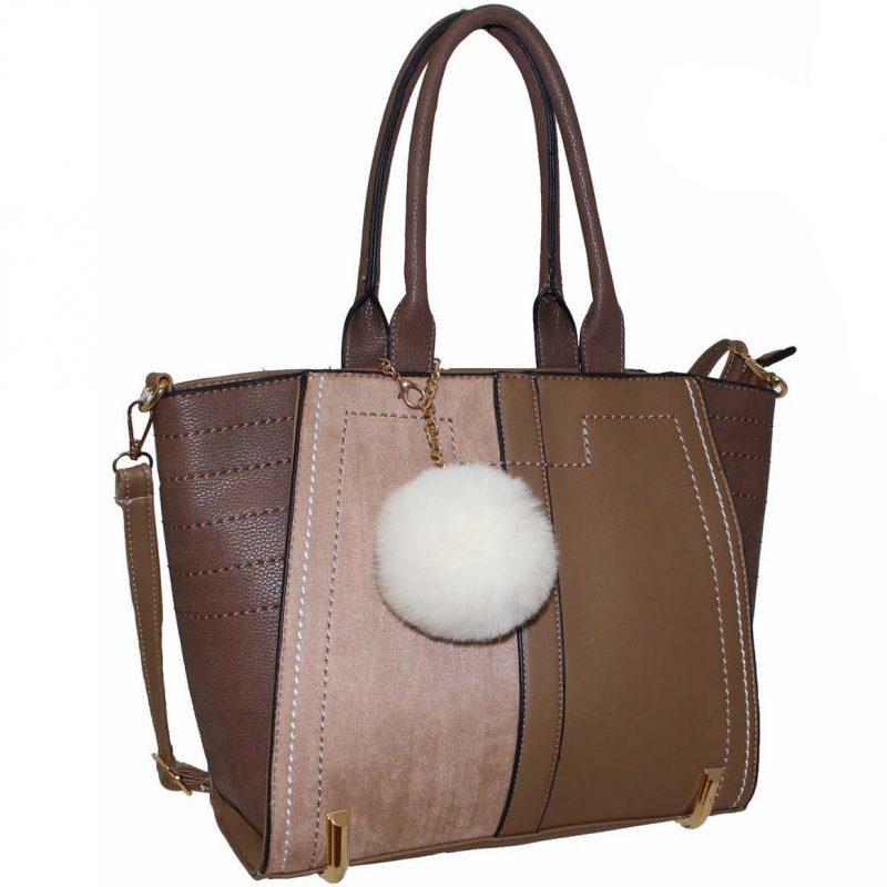 mink tote fashion bag