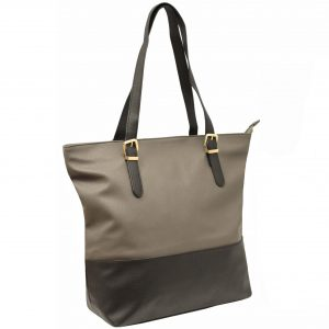 Grey Zip Top Tote