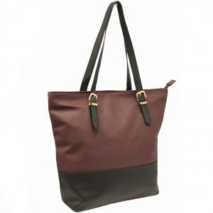 wine zip top tote