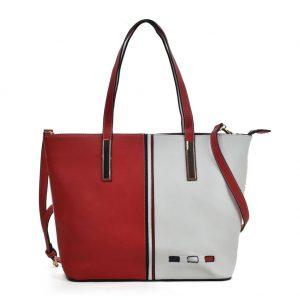 red tote shoulder bag