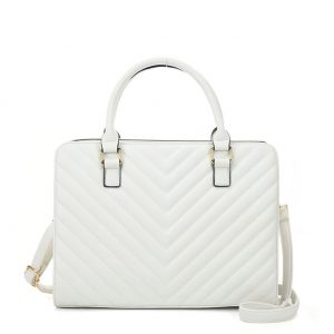 White quilted bag