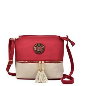 red tassel bag