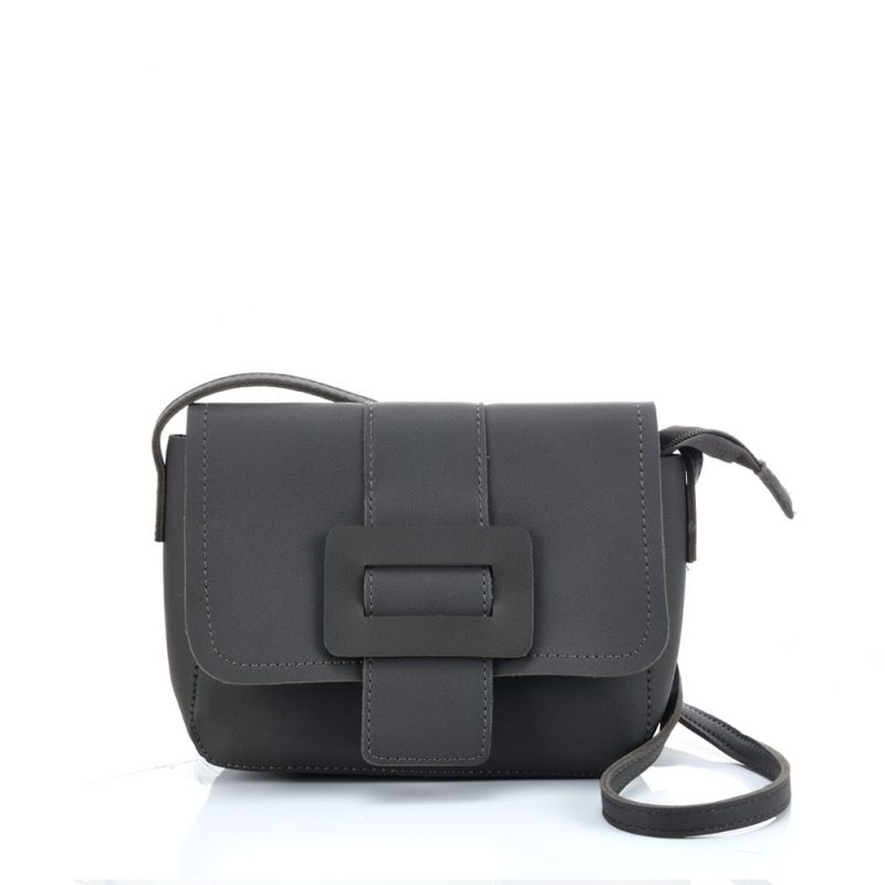 Dark Grey Buckle bag