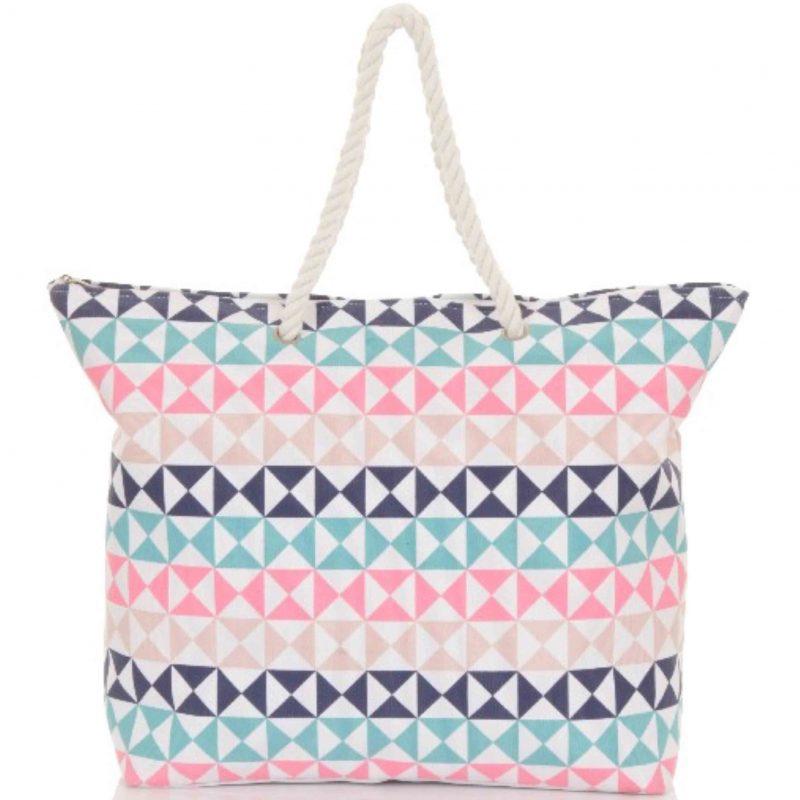 triangle beach bag
