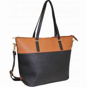 black tan tote bag