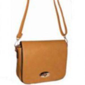 mustard flap over handbag