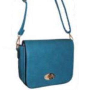 teal flap over handbag