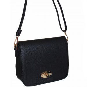 black flap over handbag