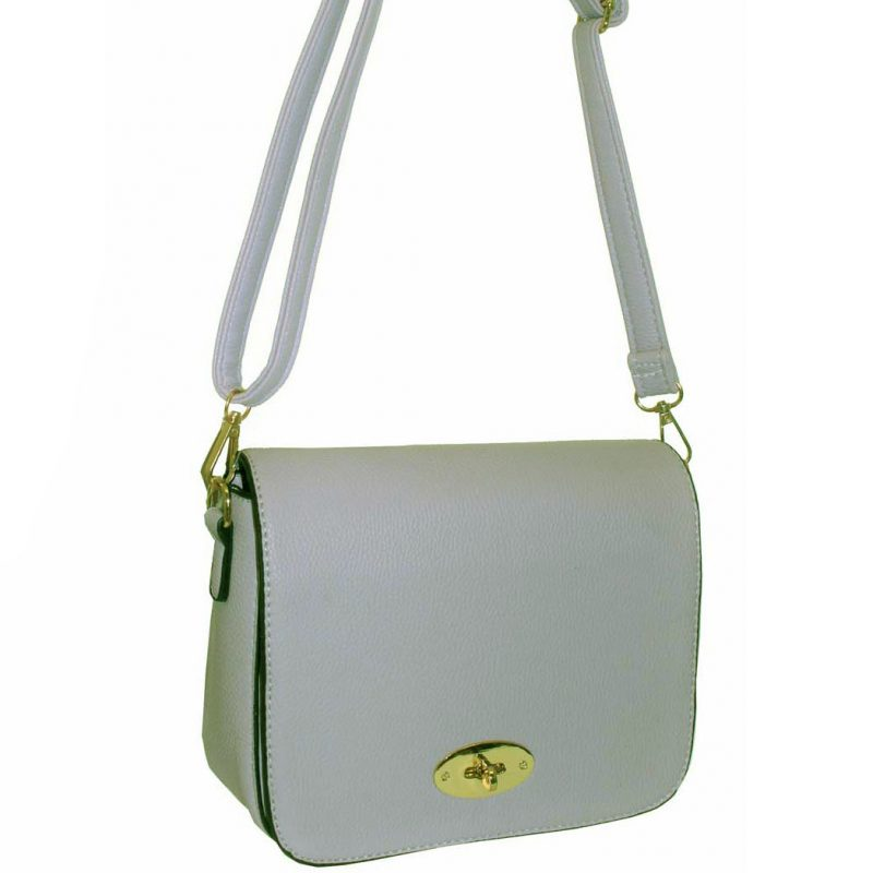 Grey Flap Over Handbag
