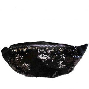 black sequin bumbag