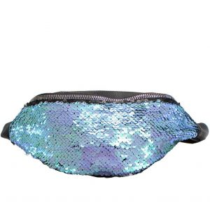 blue sequin bumbag