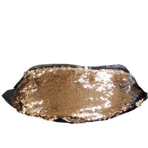 gold sequin bumbag